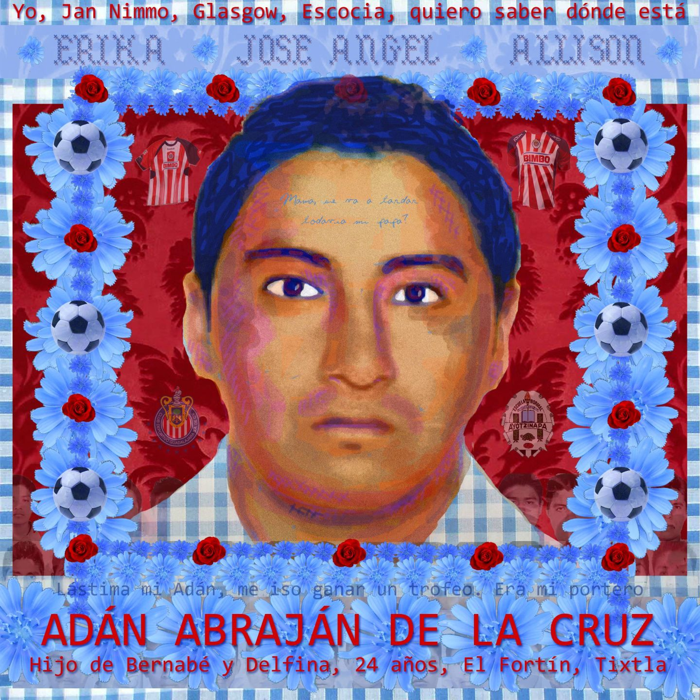 Portrait of Adan Abrajan de la Cruz by Jan Nimo