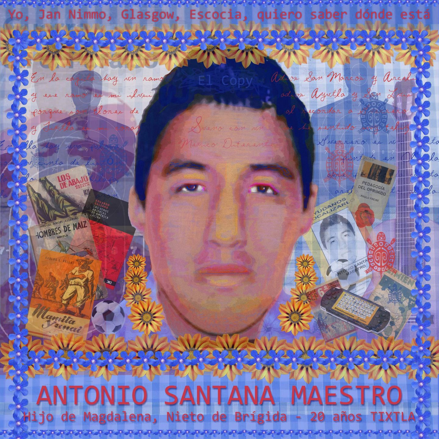 Portrait of Antonio Santana Maestro by Jan Nimo