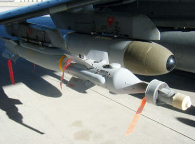 A Paveway IV laser guided bomb