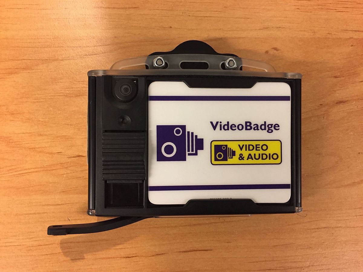 Body worn video badge