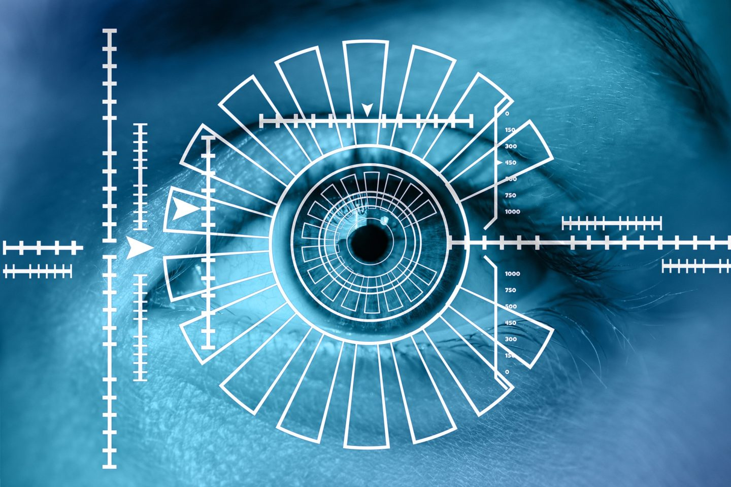 biometric scan of an eye