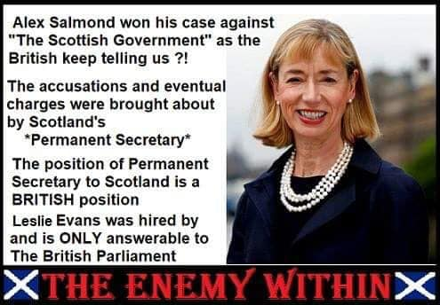 Claim civil servant who led Salmond probe is UK govt controlled is False
