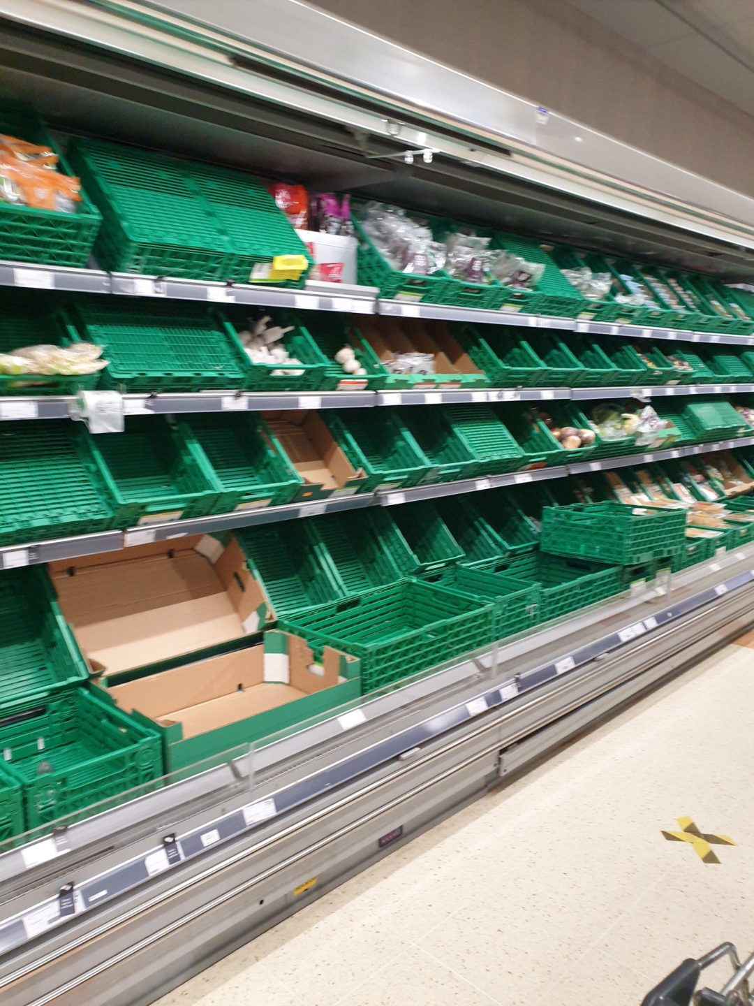 Empty shelves at Co-op